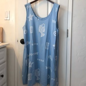 Other - Slip on cover too or dress . Powder blue,